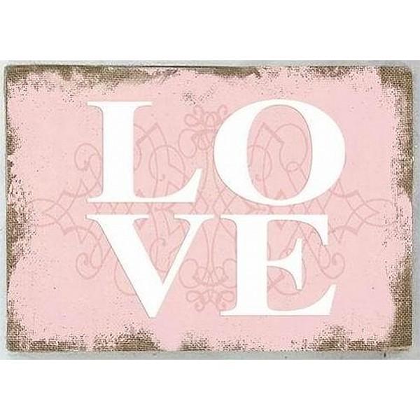 Canvastavla LOVE - Rosa