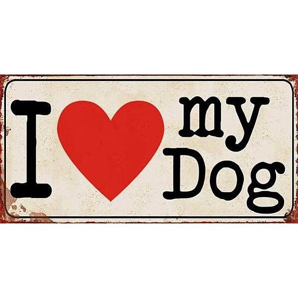 Magnet/Kylskåpsmagnet I love my dog