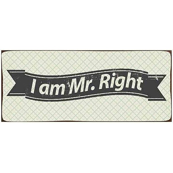 Plåtskylt I am Mr. Right