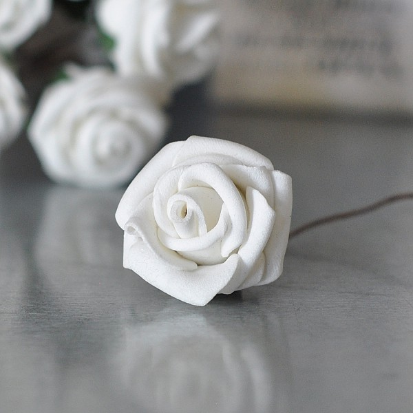Decor Rose White - 2.5 cm