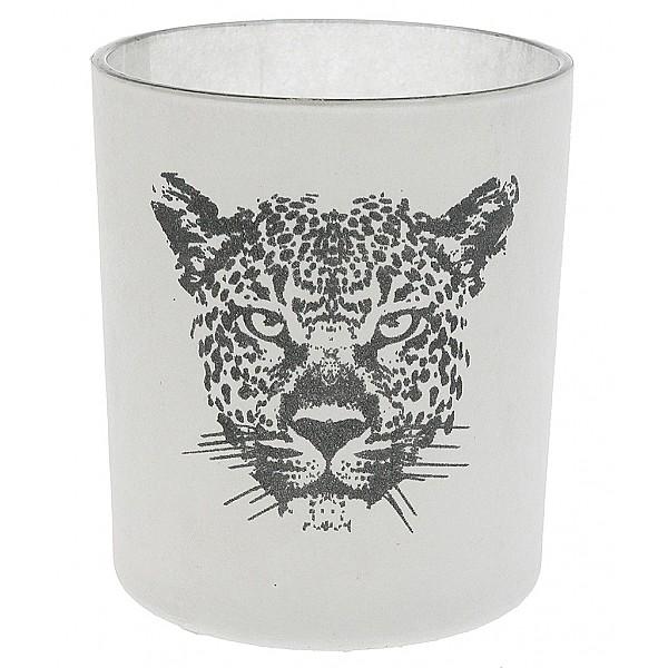 Teelichthalter Leopard