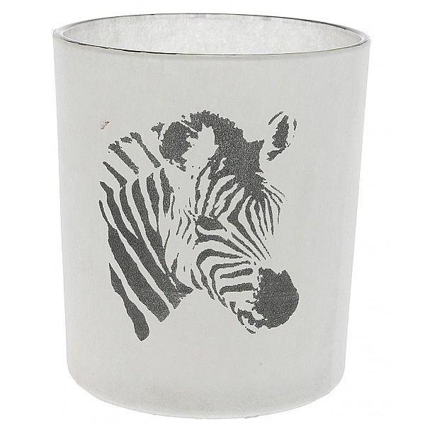 Teelichthalter Zebra