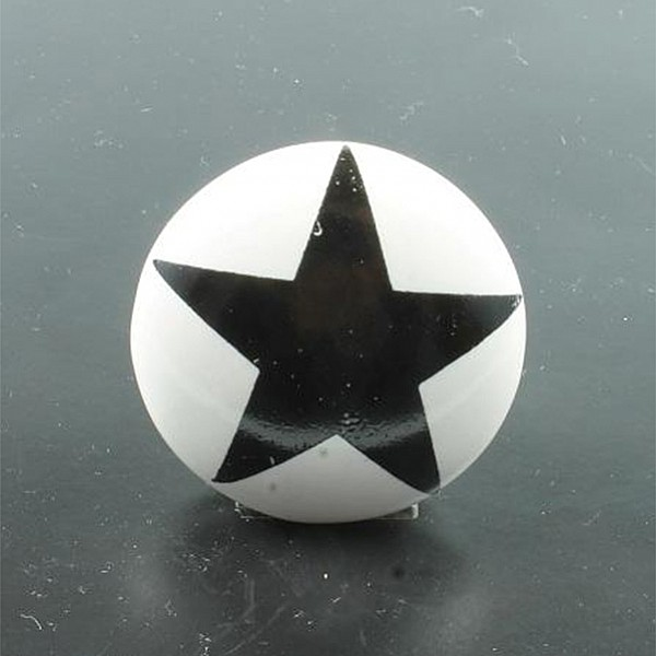 Porcelain Knob Star - Black