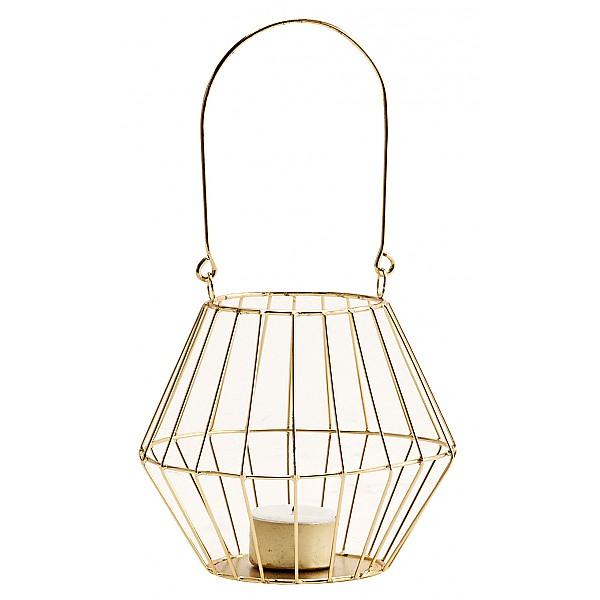 Metall-T-Licht - glänzendes Gold