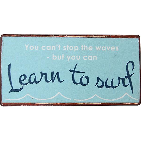 Magnet/Kylskåpsmagnet Learn to surf