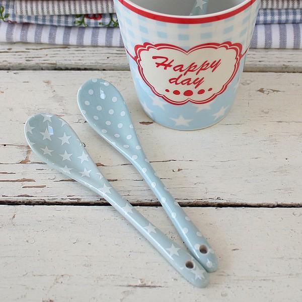 Happy Spoon Dot - Blue