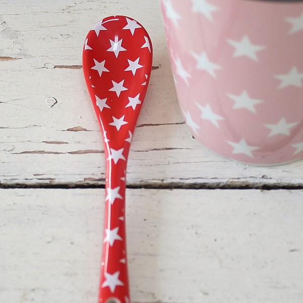 Happy Spoon Star - Röd