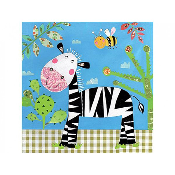 Napkins Happy Zebra