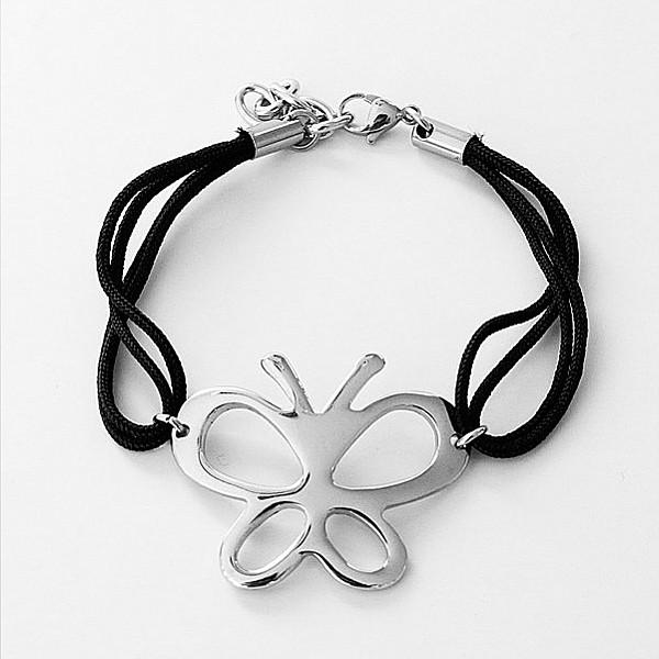 Armband Fjäril i rostfritt stål
