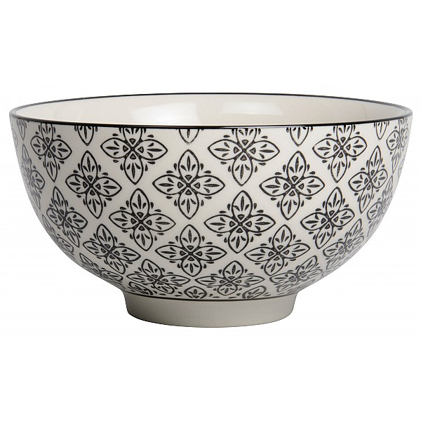 Bowl Casablanca Large - White / Black