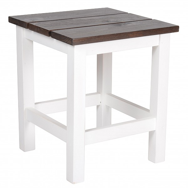 Pallet - White with brown seat