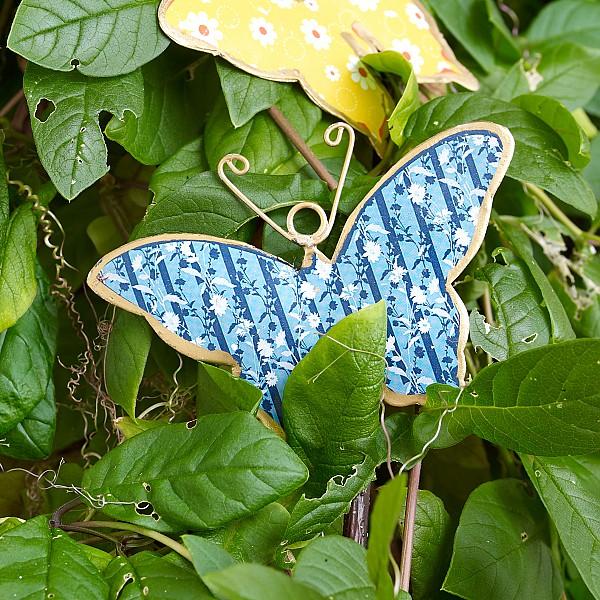 Butterfly in sheet metal - Blue