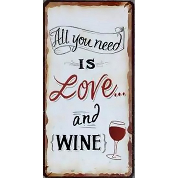 Magnet All you need is love and wine