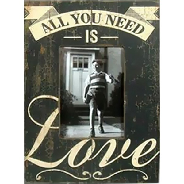 Wooden frame All you need is love