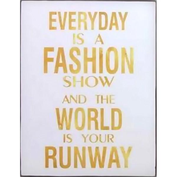 Plåtskylt Fashion show