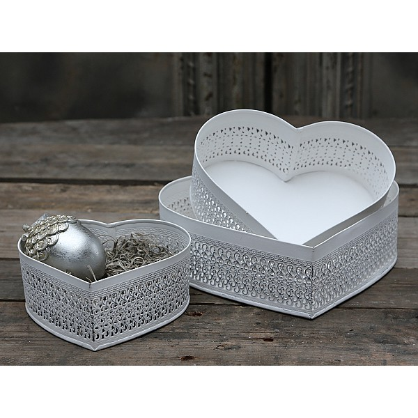 Trays / Dishes Hearts 3 pcs - Antique White