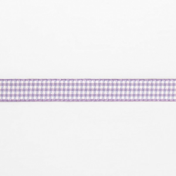 Checkered Ribbon - Purple / White