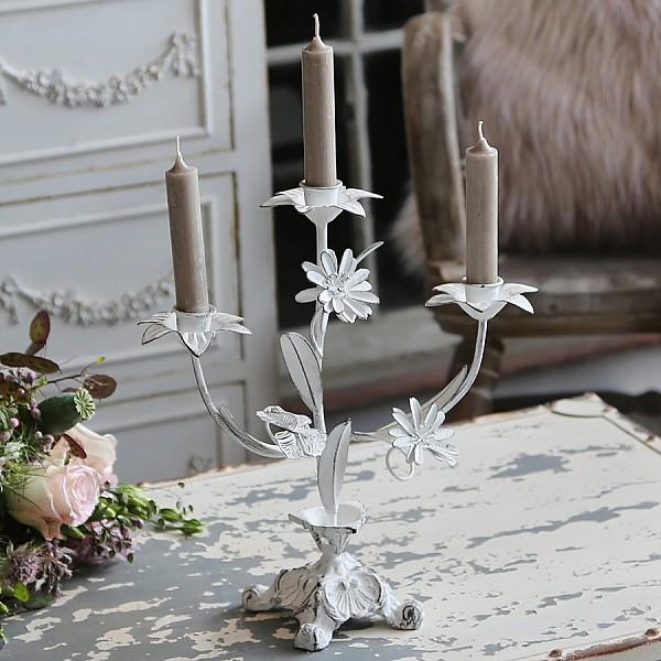 Church Candlestick - Antique White