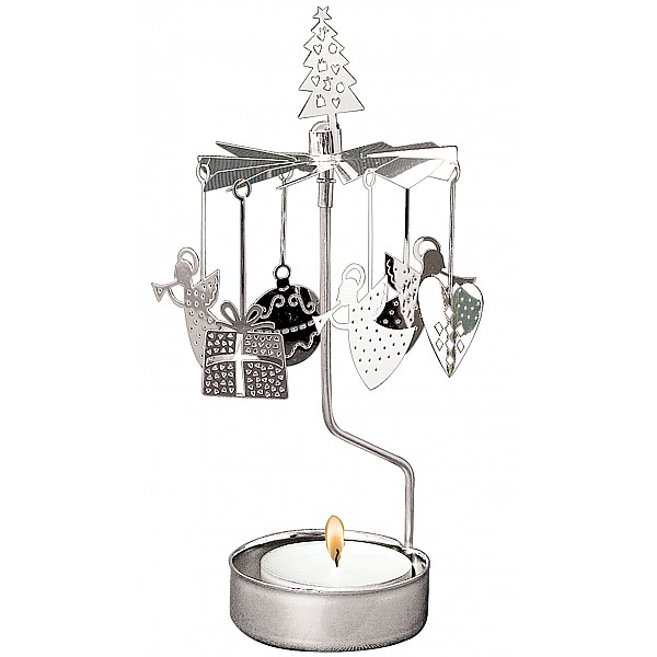 Rotary Candle Holder X-mas - Silber