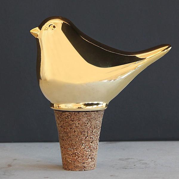 Flaskkork Fågel - Guld