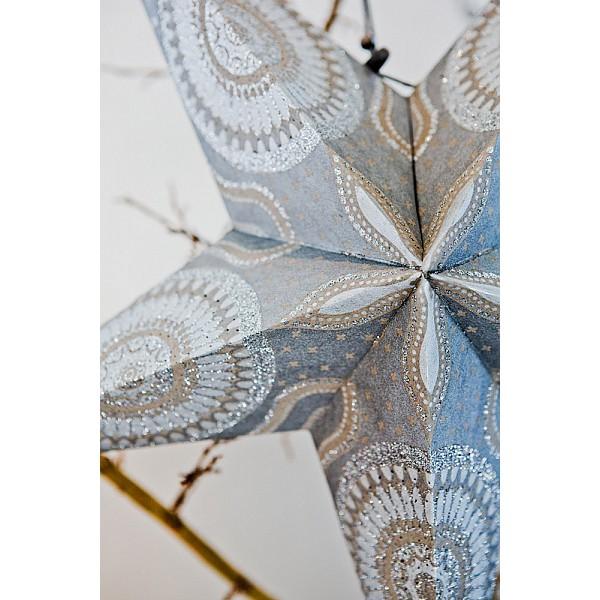 Julstjärna - Silver med glitter