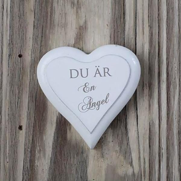 Magnet Hjärta Du är en ängel