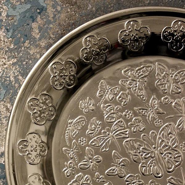 Metallfat Butterfly Litet - Silver