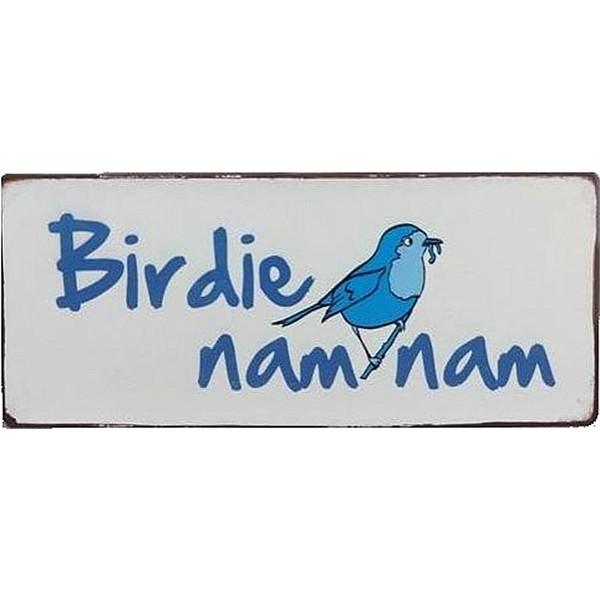 Plåtskylt Birdie nam nam