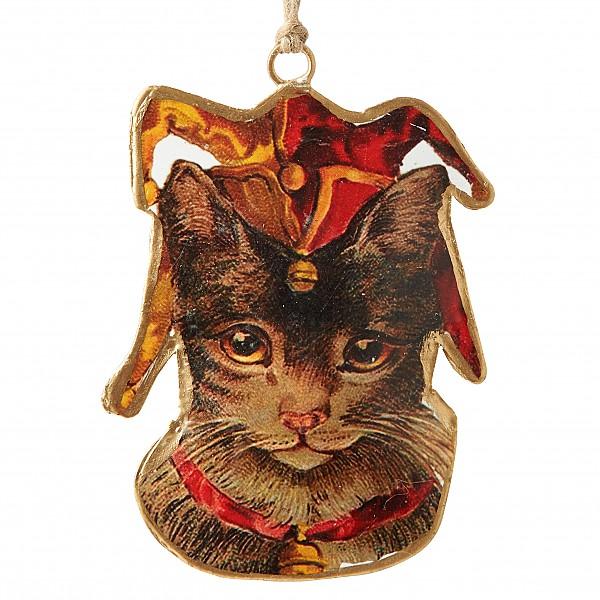 Katze mit der Kappe eines Dummkopfs BEATRIX