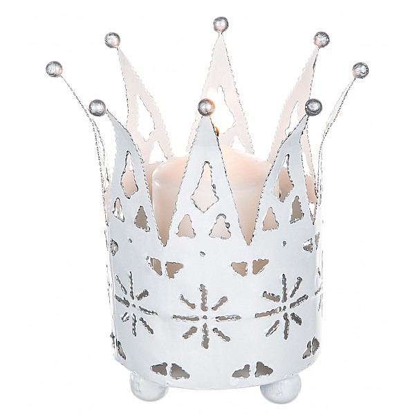 Candle Holder Crown White - Large