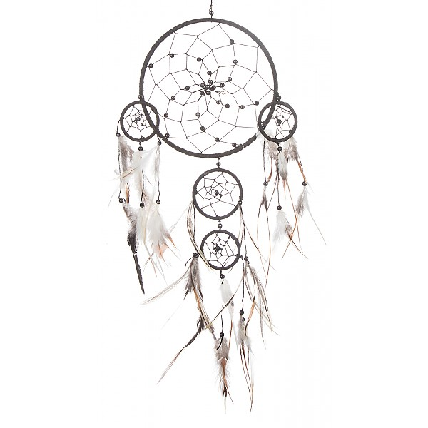 Dreamcatcher with pearls - Black