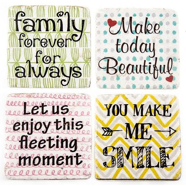 Glasunderlägg Family Beautiful Moment Smile