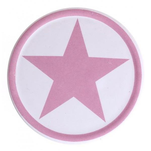 Glasunderlägg Stjärna - Rosa