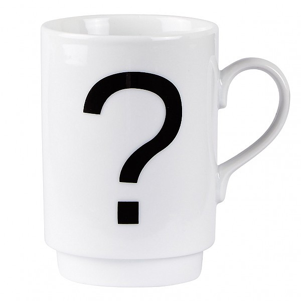 Mug ? Question Mark