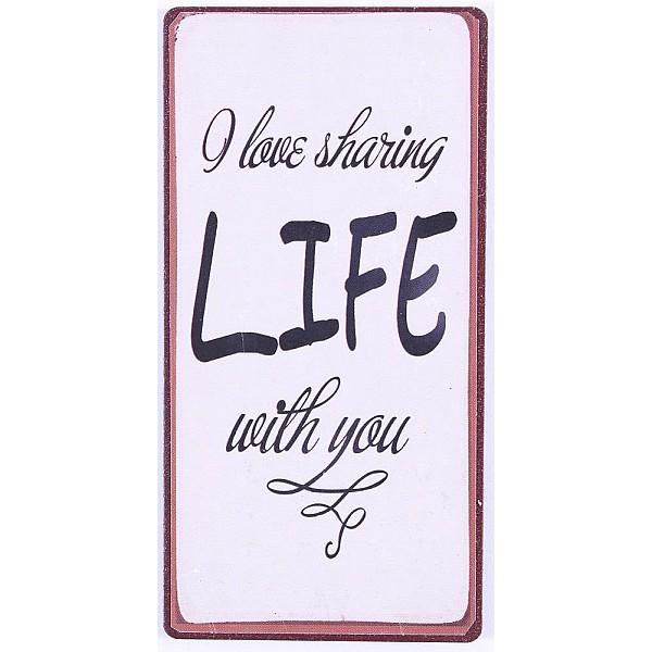 Magnet/Kylskåpsmagnet I love sharing life with you