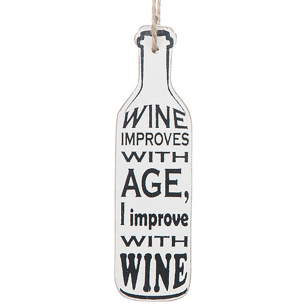 Wine Bottle Tag - Wine improves with age