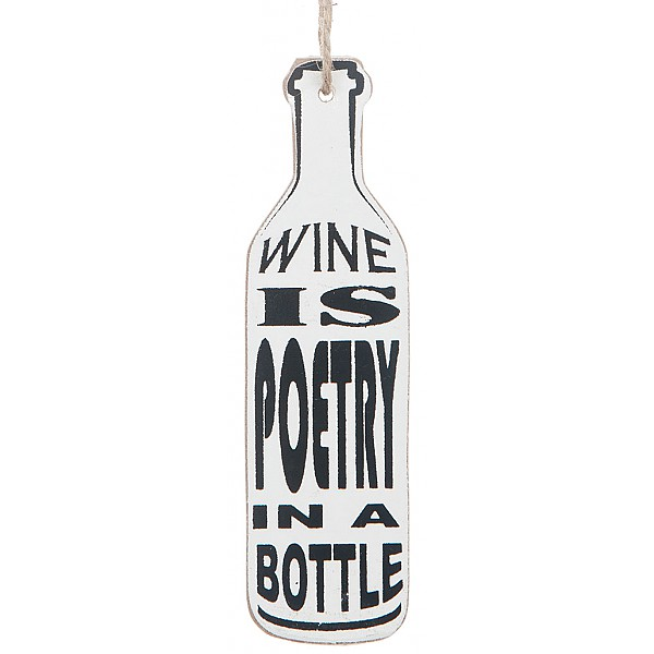 Wine Bottle Tag - Wine is poetry in a bottle