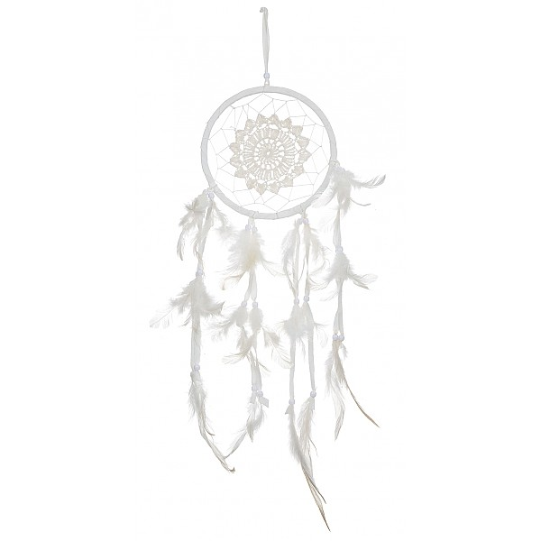 Dreamcatcher Crochet White - 16 cm