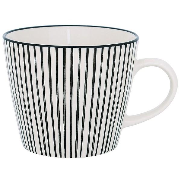 Tasse Casablanca Striped - Weiß / Schwarz