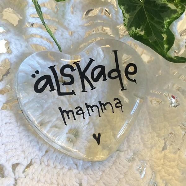 Glashjärta Älskade Mamma - Liten