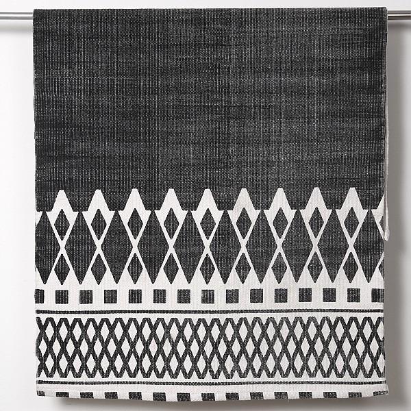 Teppich Torino Schwarz - 70 x 200 cm