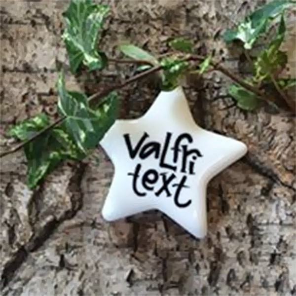 Porslinsstjärna Valfri text - Liten
