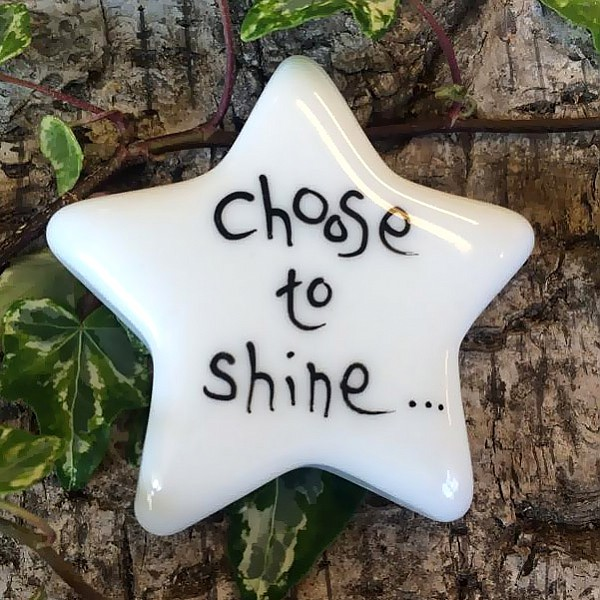 Porslinsstjärna Choose to shine - Liten