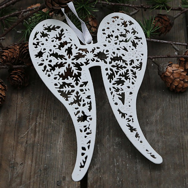 Angel Wings Fil de fer - Antique White