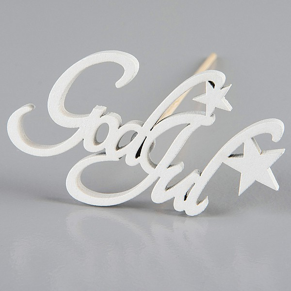 God Jul Star Stick White - 7.5 x 4.5 cm