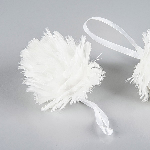 Feather Ball White - 8 cm