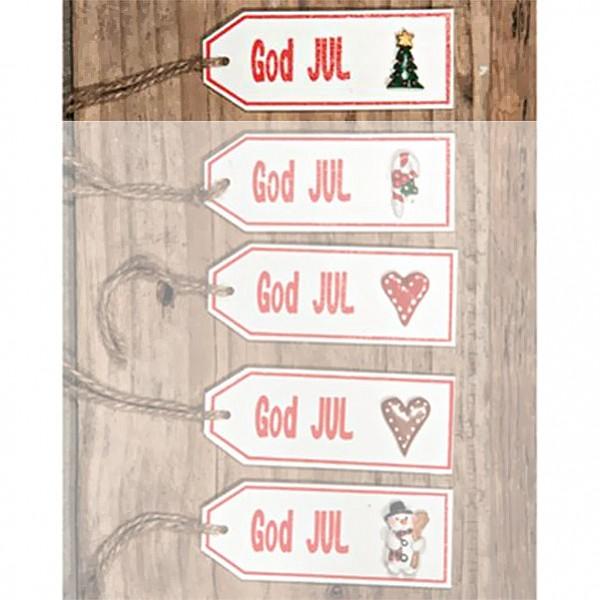 Skylt God Jul - Julgran