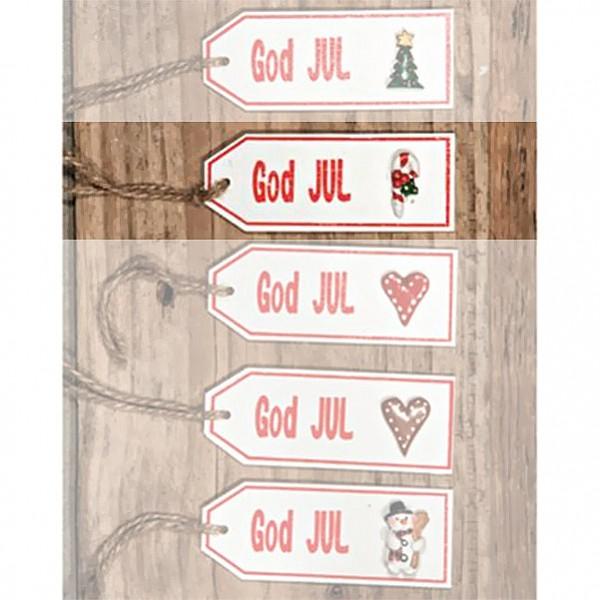 Skylt God Jul - Polkagrisstång