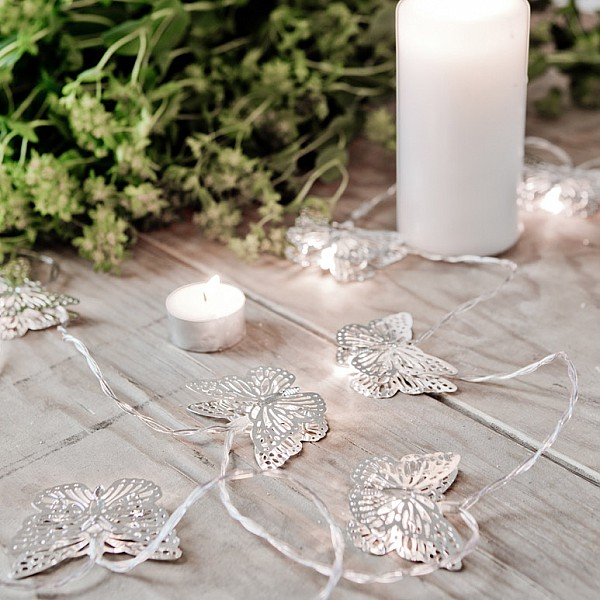Light Chain Butterfly LED - Silver