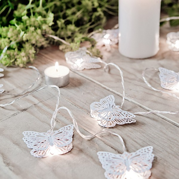 Light Chain Butterfly LED - White
